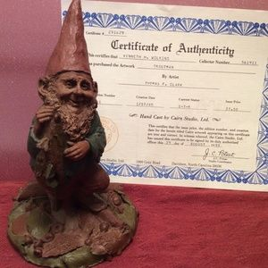 "1985 Tom Clark Gnome Sculpture ""Troutman"""